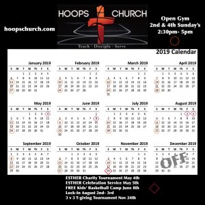 Hoops Church! Tuesdays – 2nd and 4th Sunday of each month